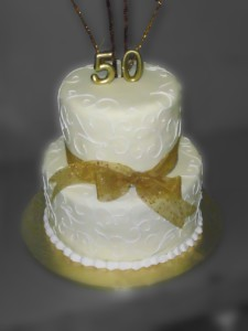 Two Tier Anniversary Cake