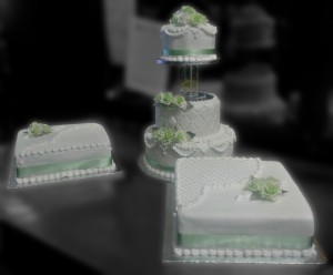 Three Tier and Square Cakes