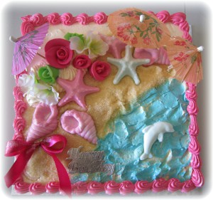 A cake for beach lovers.