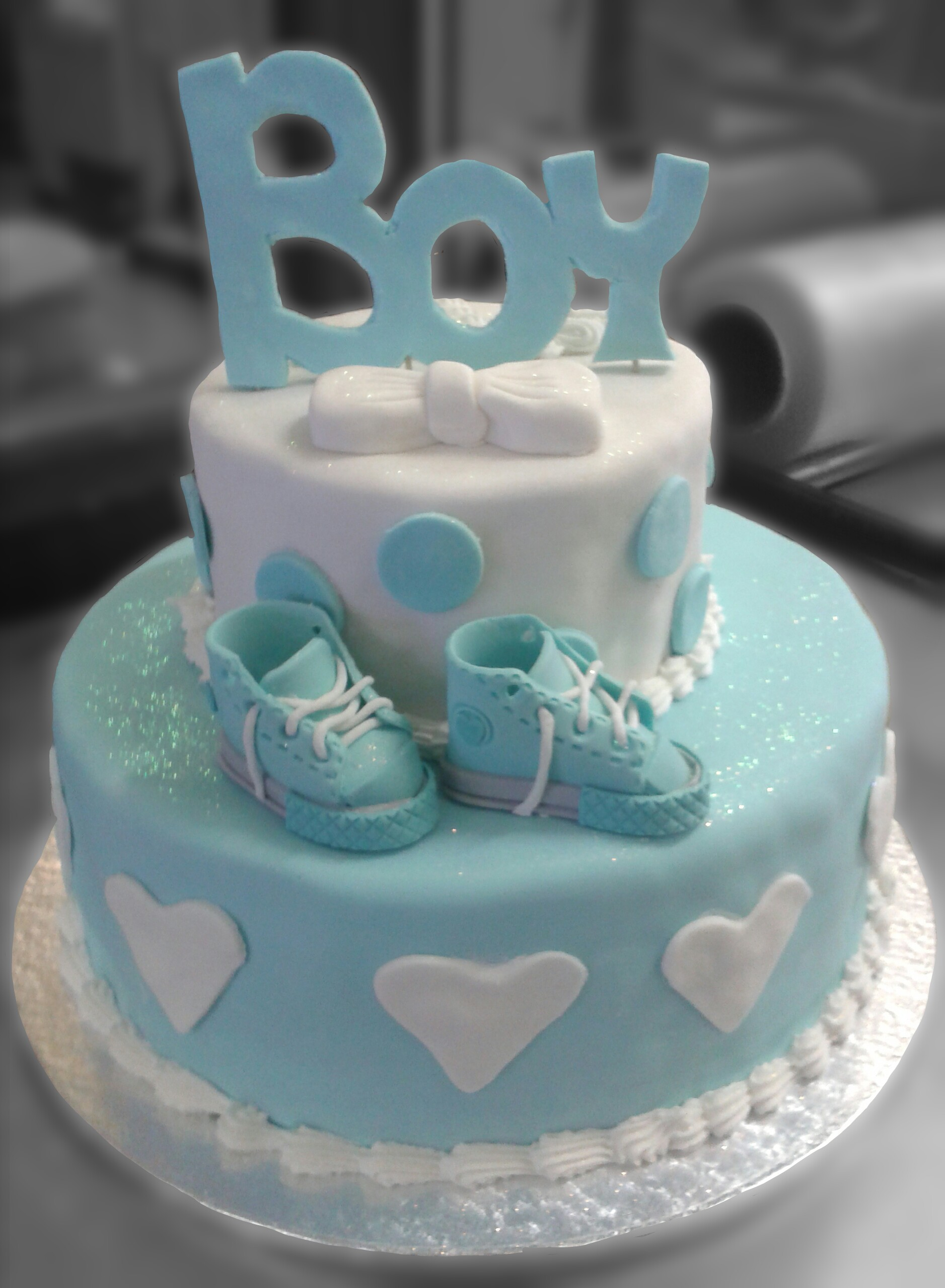 Baby Shower Cupcake Cake Ideas Boy