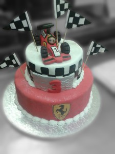 Formula One in cake form.