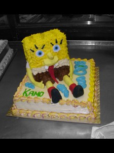 A fun character cake for fans of the cartoon.