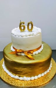 Golden Two-tier cake